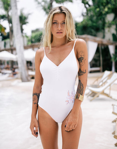ELLA STELLA ONE PIECE WHITE WILD ROSE
