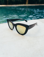 EIGHTY6 IBIZA BLACK-GOLD SUNGLASSES
