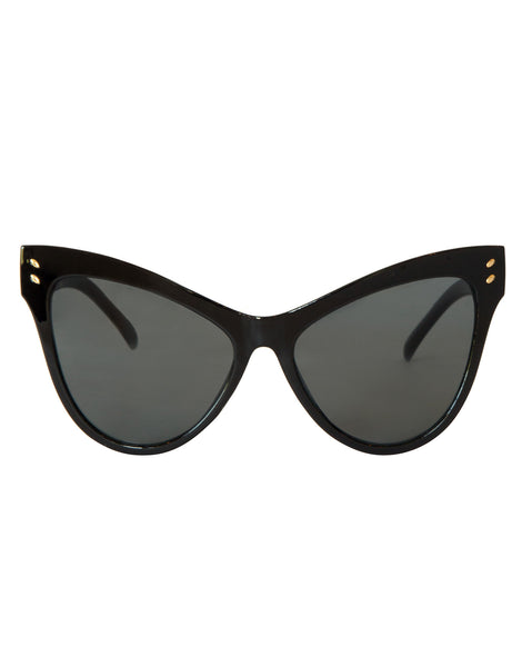 ca1a68db45 Eight6 Wings Black Sunglasses
