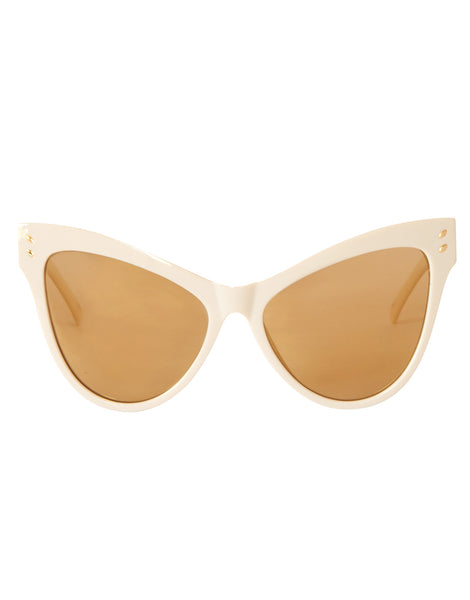 Eight6 Wings Golden Cream Sunglasses