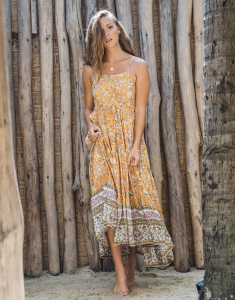 ULU MAXY MAXI DRESS MARIGOLD