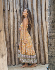 ULU MAXY MAXI DRESS MARIGOLD, ULU THE LABEL - kinilush