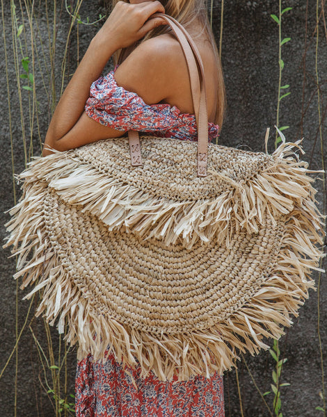 ULU THE LABEL KOMODO RAFFIA BAG