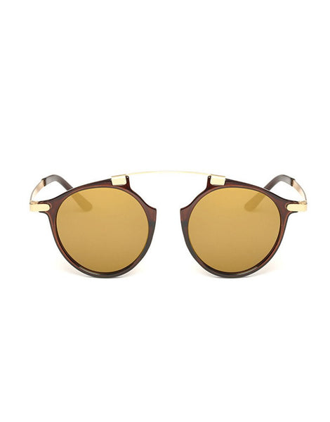 Eighty6 Mischiefs Brown and Gold Sunglasses