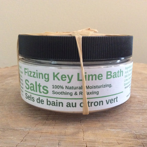 Fizzing Key Lime Bath Salts
