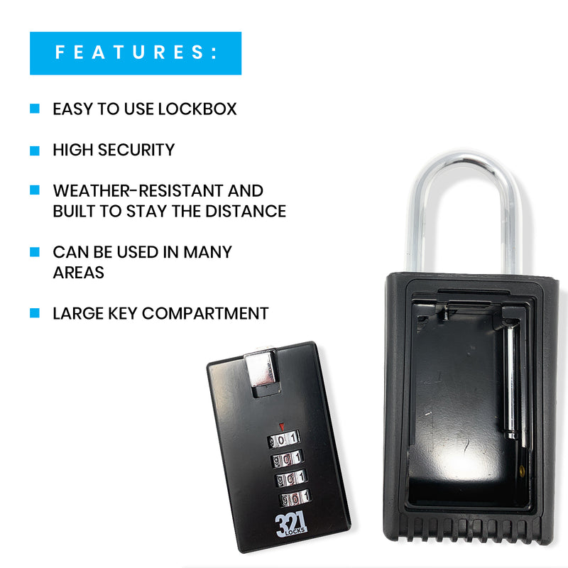 Realtor Key Lock Box LB-003 5 Pack - Free Shipping