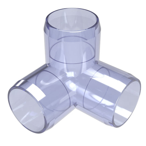 1-1/4 in. Clear 3-Way Elbow PVC Fitting (Box of 25)