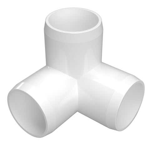 2 in. 3-Way Elbow PVC Fitting (Box of 40)