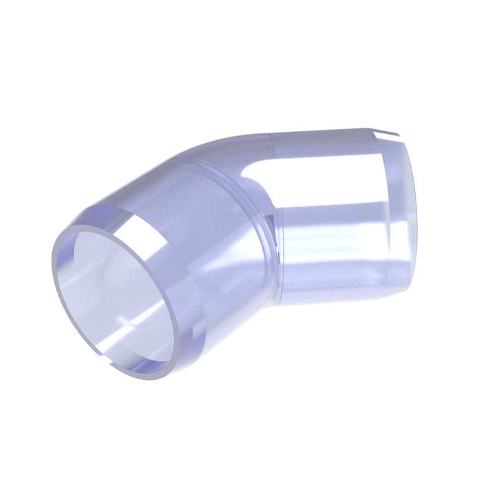 1-1/4 in. 45 Degree Clear PVC Fitting (Box of 25)