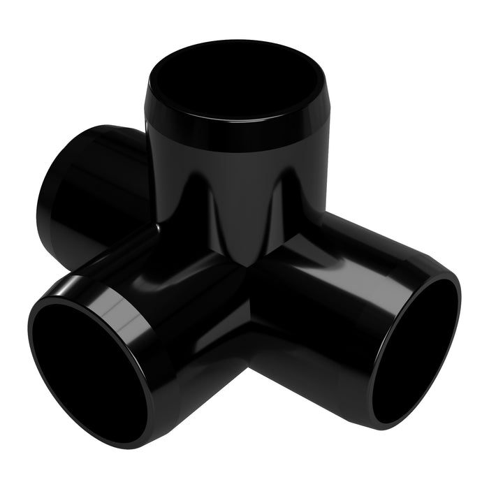 1-1/2 in. 4-Way Tee PVC Fitting (Box of 60)