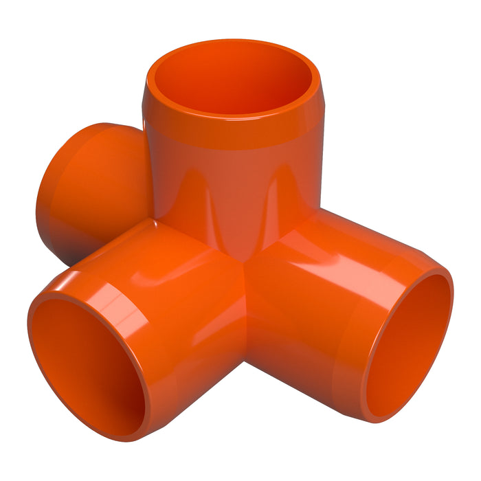 1 in. 4-Way Tee PVC Fitting (Box of 60)