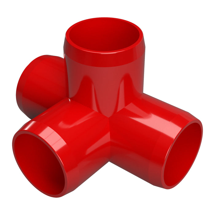 1-1/4 in. 4-Way Tee PVC Fitting (Box of 60)