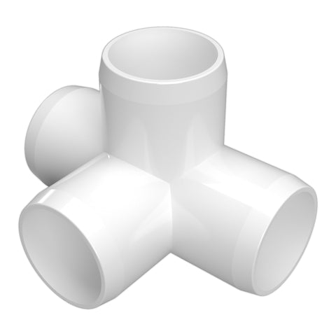 1/2 in. 4-Way Tee PVC Fitting (Box of 90)