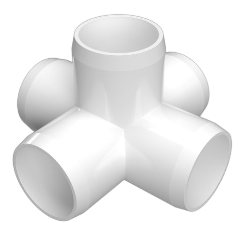 1-1/2 in. 5-Way Cross PVC Fitting (Box of 40)