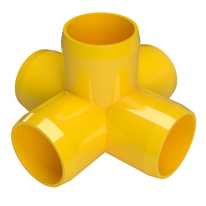 1-1/4 in. 5-Way Cross PVC Fitting (Box of 48)