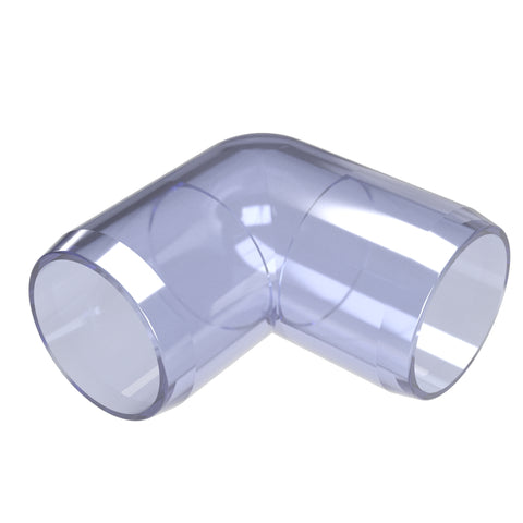 1-1/4 in. 90 Degree Clear PVC Fitting (Box of 25)