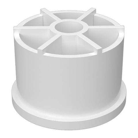 1-1/4 in. PVC Caster Fitting Insert for 7/16 in. Caster Posts (Box of 200)