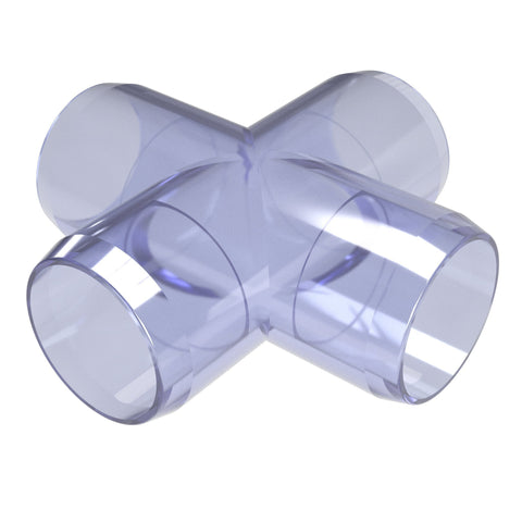 3/4 in. Cross Clear PVC Fitting (Box of 25)