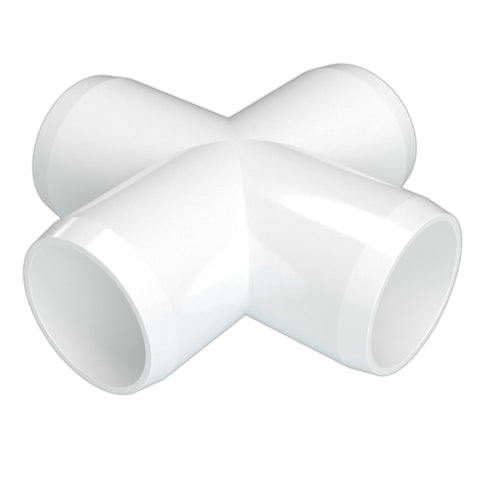 1-1/2 in. Cross PVC Fitting (Box of 75)