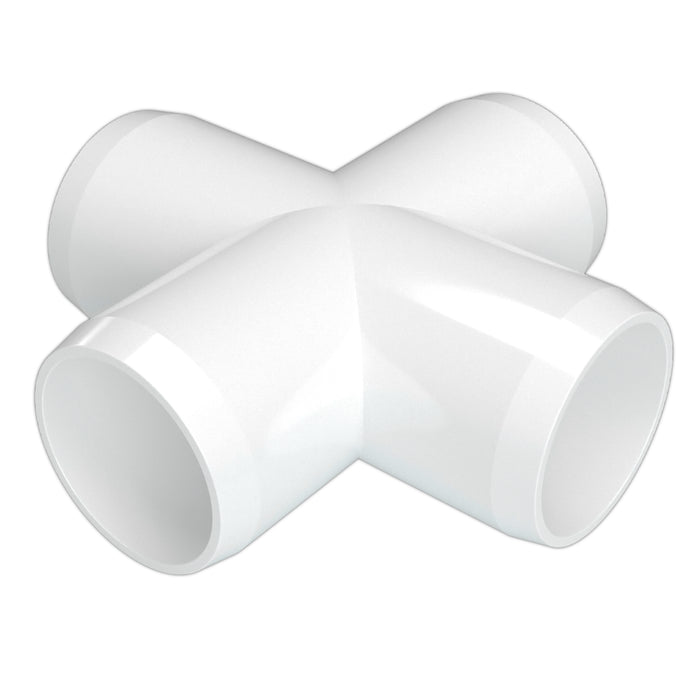 1/2 in. Cross PVC Fitting (Box of 100)