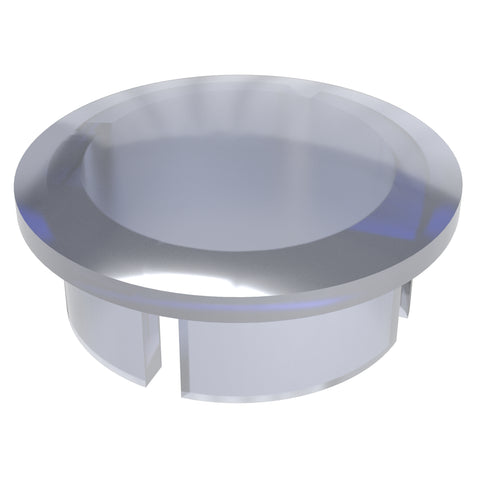 1/2 in. Clear PVC Internal Domed End Cap (Box of 50)