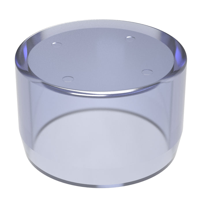 1 in. Clear PVC External End Cap (Box of 50)