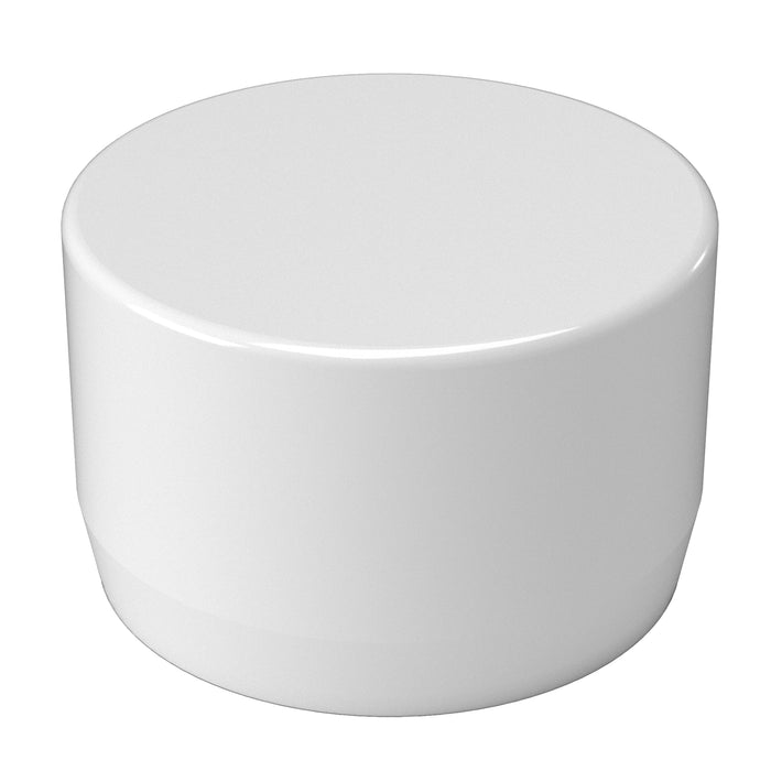 2 in. PVC External End Cap (Box of 128)