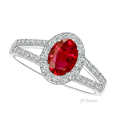 Halo Rings Ruby