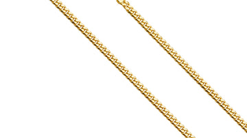 14k Gold Miami Cuban Chain Necklace 3.3 MM