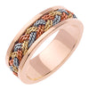 18K Rope Braided Ring- Rose/ Tricolor Rose