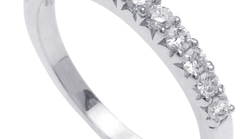 13 Stone Half Diamond Eternity Ring Band