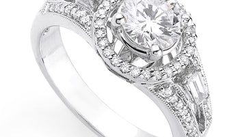 Diamond Halo Engagement Ring Band