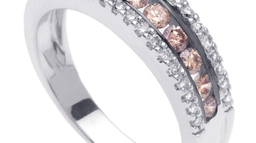 Diamond Half Eternity Ring Band