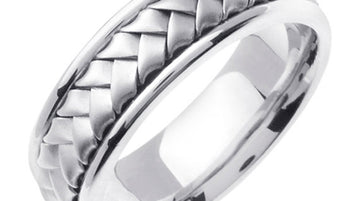 Sterling Silver Hand Braided Ring Band