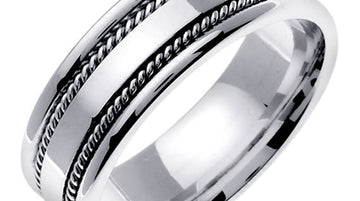 Hand Braided Cord Ring Band