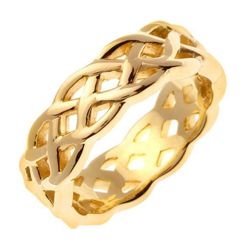Yellow Gold Celtic Knot Ring Band