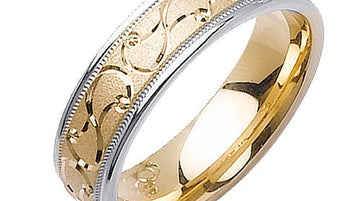 Engraved Design Ring Band