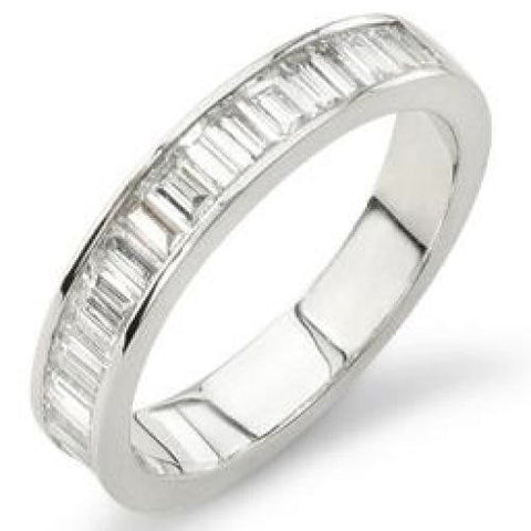 14K Gold Half Eternity Diamond Ring, For the Bride and Groom