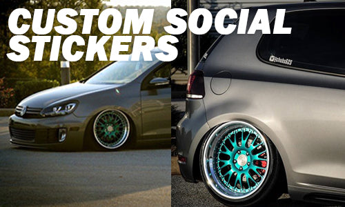 Custom Social Media Stickers