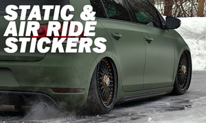 Static and Air Ride Stickers