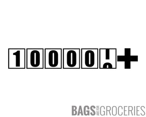 """100000+"" miles/kilometers Sticker"