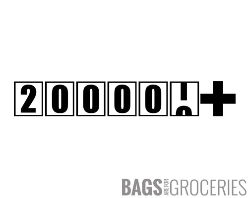 """200000+"" miles/kilometers Sticker"