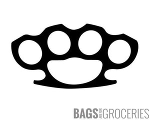 Brass Knuckles Sticker