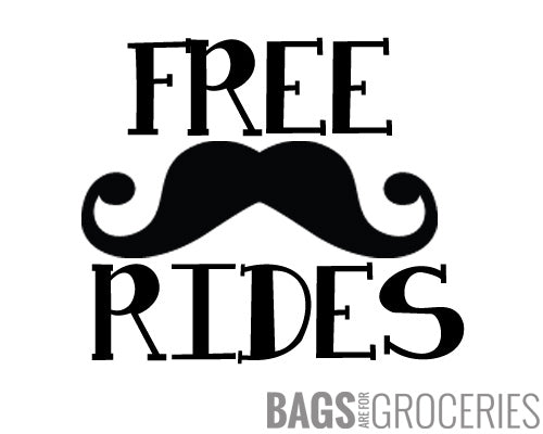Free Moustache Rides Sticker