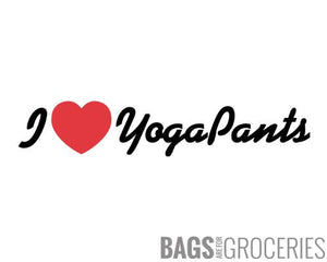 I Heart Yoga Pants Sticker