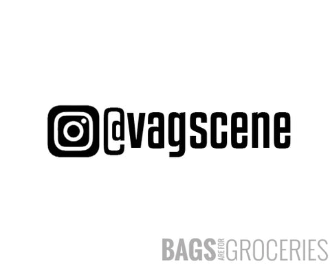 Custom Instagram Name Sticker
