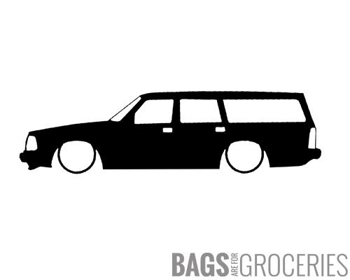Lowered 240 Volvo wagon Sticker