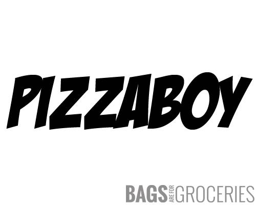 Pizzaboy Windshield Banner Sticker