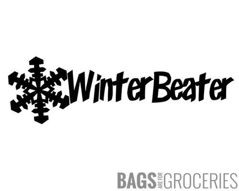 Winter Beater Sticker