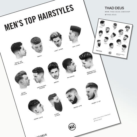 HAIR MAX 2017 POSTER AND 2 STICKERS: Top 13 hairstyles of the year
